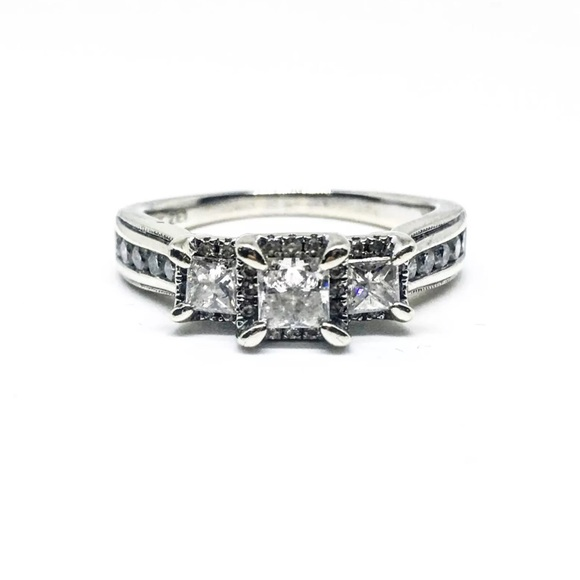 9e62ba134 Kay Jewelers Jewelry - 14k White Gold 3 Stone Diamond Engagement Ring